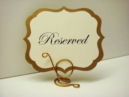 metal reserved table signs wedding sign elegant label design prepared with your by wedology