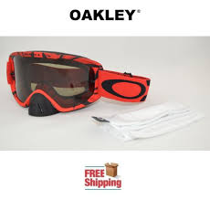 motocross goggles ebay red black dark grey oakley o2 intimidator mx goggles dirt bike
