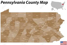 Pa Counties Map A Large And Detailed Map Of The State Of Pennsylvania With All