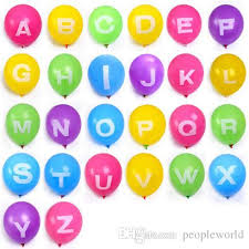 number balloons delivered alphabet 12 inch letter balloons a z multicolor
