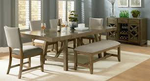 omaha dining room set w upholstered bench grey formal dining