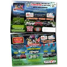 10 x 14 touchdown buy back event jumbo postcard automotive direct