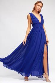 royal blue royal blue gown maxi dress homecoming dress 84 00