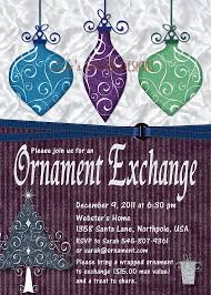 ornament exchange invitation invitation