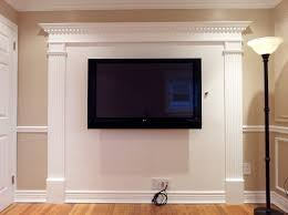 Wainscoting Grey Walls White Crown by 1 14 14a3d032 Fireplace Overmantel Moldings For Flat Screen Tv