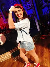 halloween diy costume of the day rosie the riveter wgno