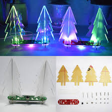 Color Changing Christmas Trees - geekcreit diy full color changing led acrylic 3d christmas tree