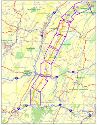 Map Pennsylvania by Everett Region Maps Great Eastern Trail Mid State Trail