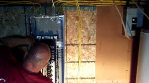 how to wire in to a panel on new construction youtube