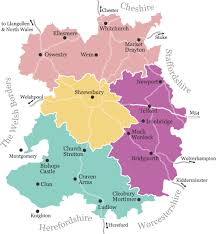 map uk villages shropshire tourism places to stay eat and shop in shropshire