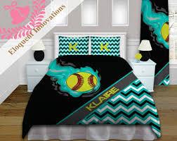 Green Bedding For Girls by Softball Bedding Etsy