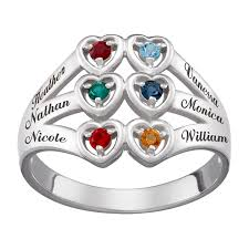 heart rings images Mother 39 s simulated birthstone heart ring in sterling silver 2 6 jpg