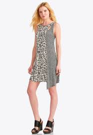 asymmetrical dress abstract pointillism asymmetrical dress junior misses cato fashions