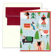 caspari personalized warm and wooly cards paperstyle
