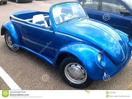 blue volkswagen convertible beetle convertible editorial photography image of germany 42763362