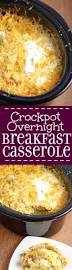 crockpot overnight breakfast casserole recipe overnight