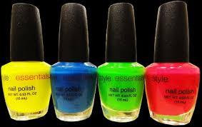 black light responsive nail polish 6 piece set al gg10920h