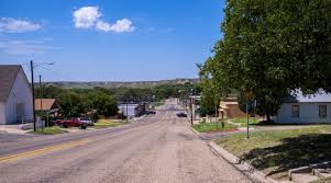 Small Town Road In Small Town In Texas Free Public Domain Stock Photo Cc0