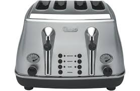 Cheapest Delonghi Toaster Delonghi Cto4003s Icona 4 Slice Toaster Silver At The Good Guys