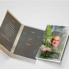 Funeral Program Printing Services Tree Branch Funeral Program Template Funeral Program Funeral