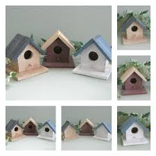 wood birdhouse decor rustic birdhouse ornament wood bird house