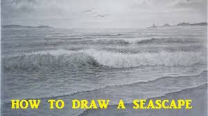 how to draw a seascape waves skies graphite pencil tutorial