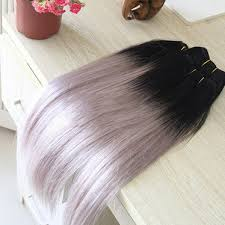hair extension sale hot sale silver grey ombre human hair extensions 1b grey