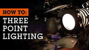 how to set up 3 point lighting for and photography