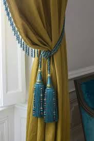 Mustard Colored Curtains Inspiration Teal Trimming And Tieback On Mustard Yellow Curtain Aloha I Mu V