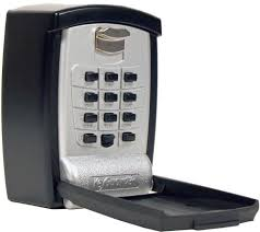 wall mount security keypad key cash small items storage lock box