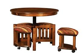 coffee table and stool set mission round table and bench set with hydraulic lift from