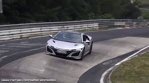 honda supercar watch these honda nsxs lap the nurburgring the drive