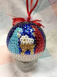 beautiful handmade sequin ornament by 530craftycraft on etsy 25 00