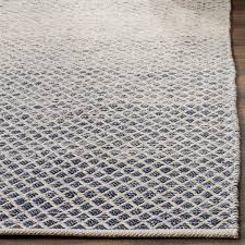 Woven Rugs Cotton Safavieh Hand Woven Montauk Flatweave Navy Ivory Cotton Rug 3