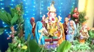 ganesh decoration at my home ganeshotsav 2011 youtube