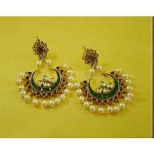 buy earrings online 22k gold plated chand bali earrings buy online kundan at rs 2350