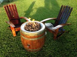 Fire Pit And Chair Set Wine Barrel Fire Pit And Adirondack Chair Set