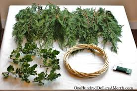 how to make wreaths how to make a christmas wreath one hundred dollars a month