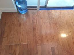 after repaired a section of the water damaged hardwood floor