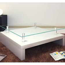 ventouse pour table basse en verre la boutique en ligne table basse de salon carrée verre blanc laqué