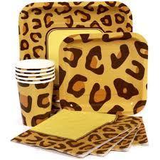cheetah print party supplies leopard print tableware parties4less net party supplies party