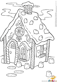 christmas coloring gingerbread house kids coloring