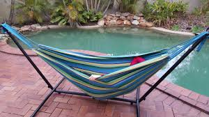 outdoor hammock holder with standing hammock