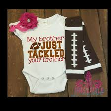 infant thanksgiving clothes baby football game shirt my brother just tackled