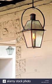 French Quarter Gas Lanterns by Antique Wrought Iron Gas Lantern In New Orleans Stock Photo