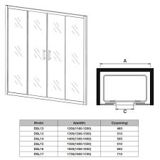 3 panel sliding shower door epienso com