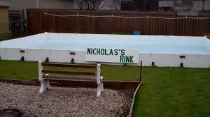 Backyard Rink Kit by Hockey Rink 2012 2013 Liner And Water And The Center Ice Loonie