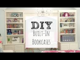 How To Make Bookcases Look Built In Easy Diy Bookcase How To Build Built In Bookcases Youtube