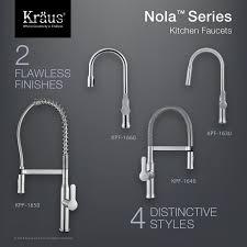 kpf 1640ss nola single lever flex commercial style kitchen faucet