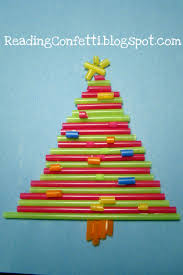 drinking straw christmas tree craft kid u0027s crafts pinterest